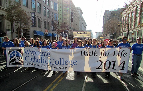 Students_from_Wyoming_Catholic_College_take_part_in_the_2014_Walk_for_Life_West_Coast_in_San_Francisco_Jan_25_2014_Credit_Wyoming_Catholic_College_CNA_1_30_14