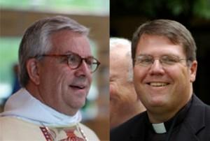 Bishop Lowenfield, left, and Bishop Menees, right.