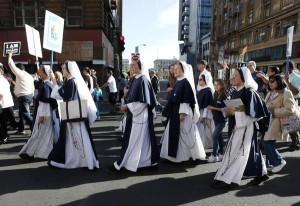 The Sisters of Life at the walk for Life West Coast