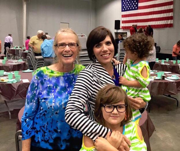 Nurse Michelle Lehr, Walk Speaker Melissa Ohden, with Olivia and Ava.