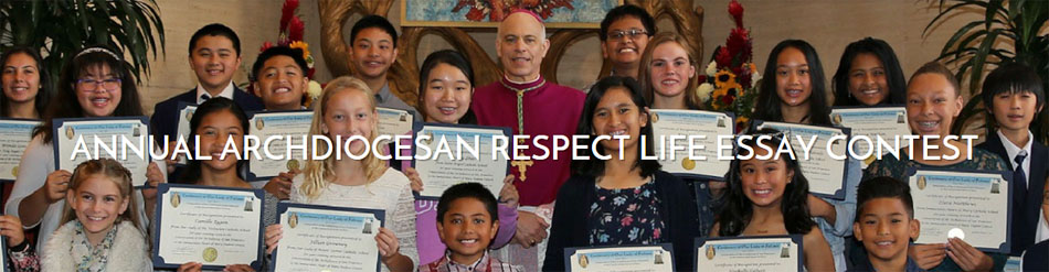 respect life massessay contest feb  walkforlifewc  walk for  our good archbishop salvatore cordileone will celebrate the annual respect  life mass at st marys cathedral on february  at  am